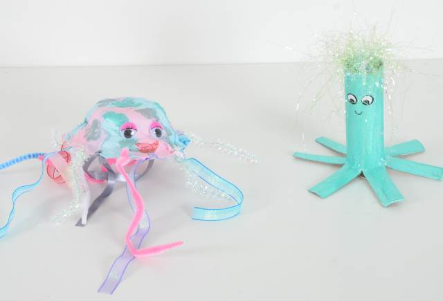 Jellyfish and octopus models