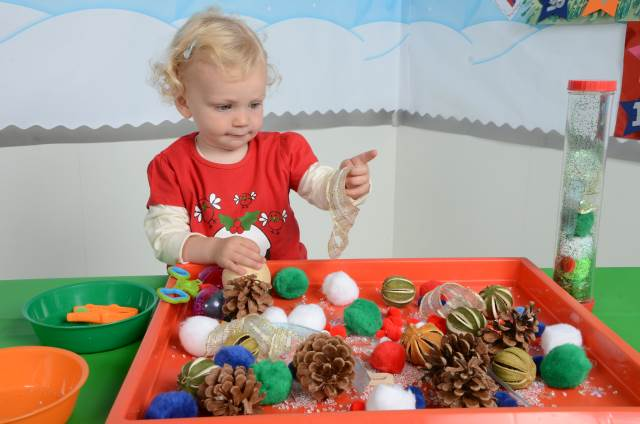 EYFS sensory tray - festive
