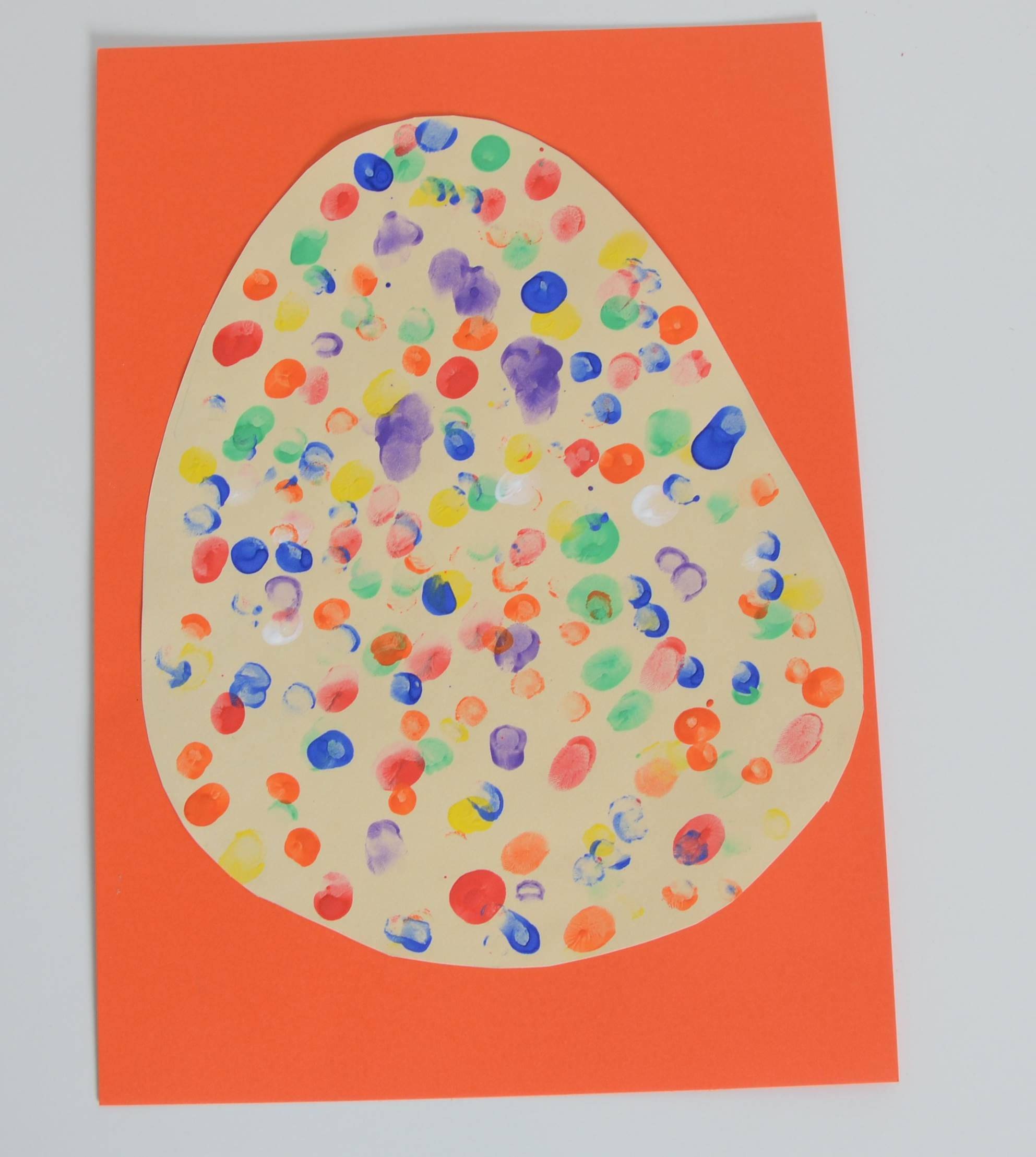 Easter Card Ideas To Make Part - 47: Easter Egg Finger Prints