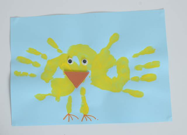 Easter Handprint Crafts