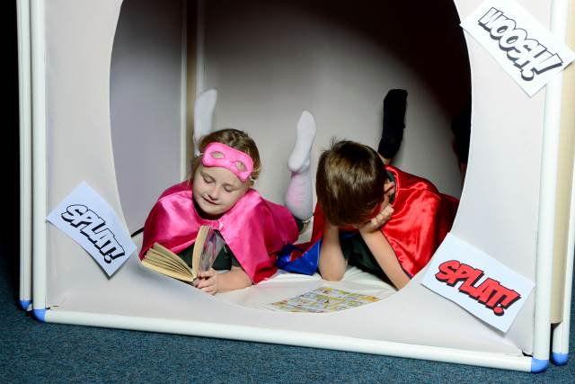 superhero reading