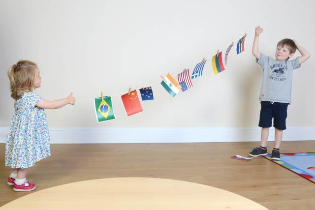 olympic flag bunting