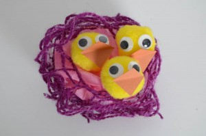 chicks in a nest