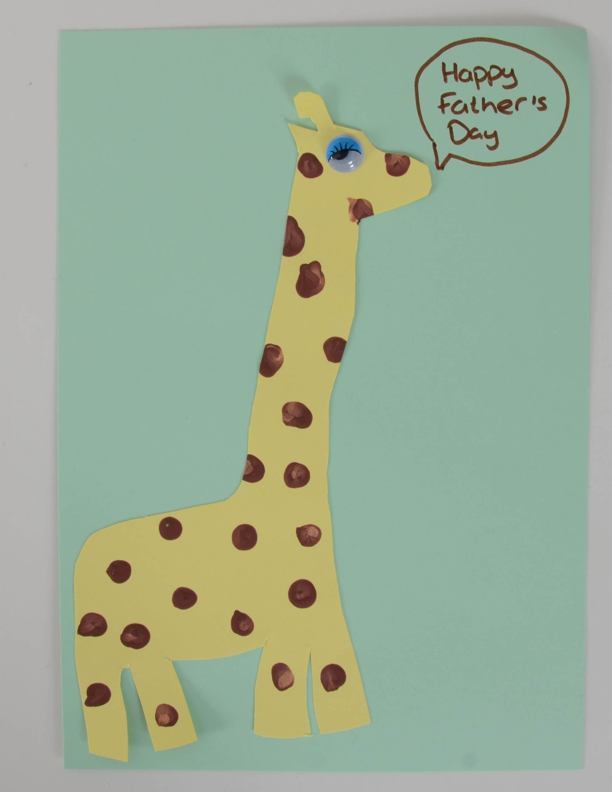 Finger print art giraffe