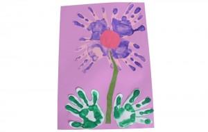 hand print flower art