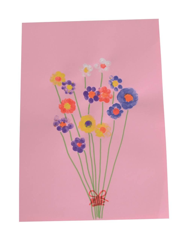 finger print flowers