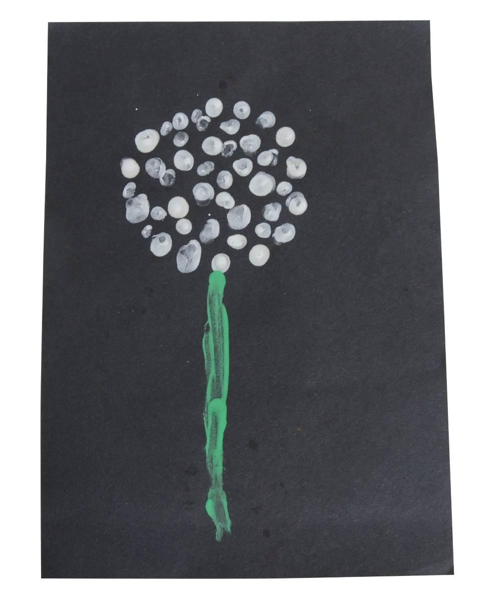 dandelion finger print picture