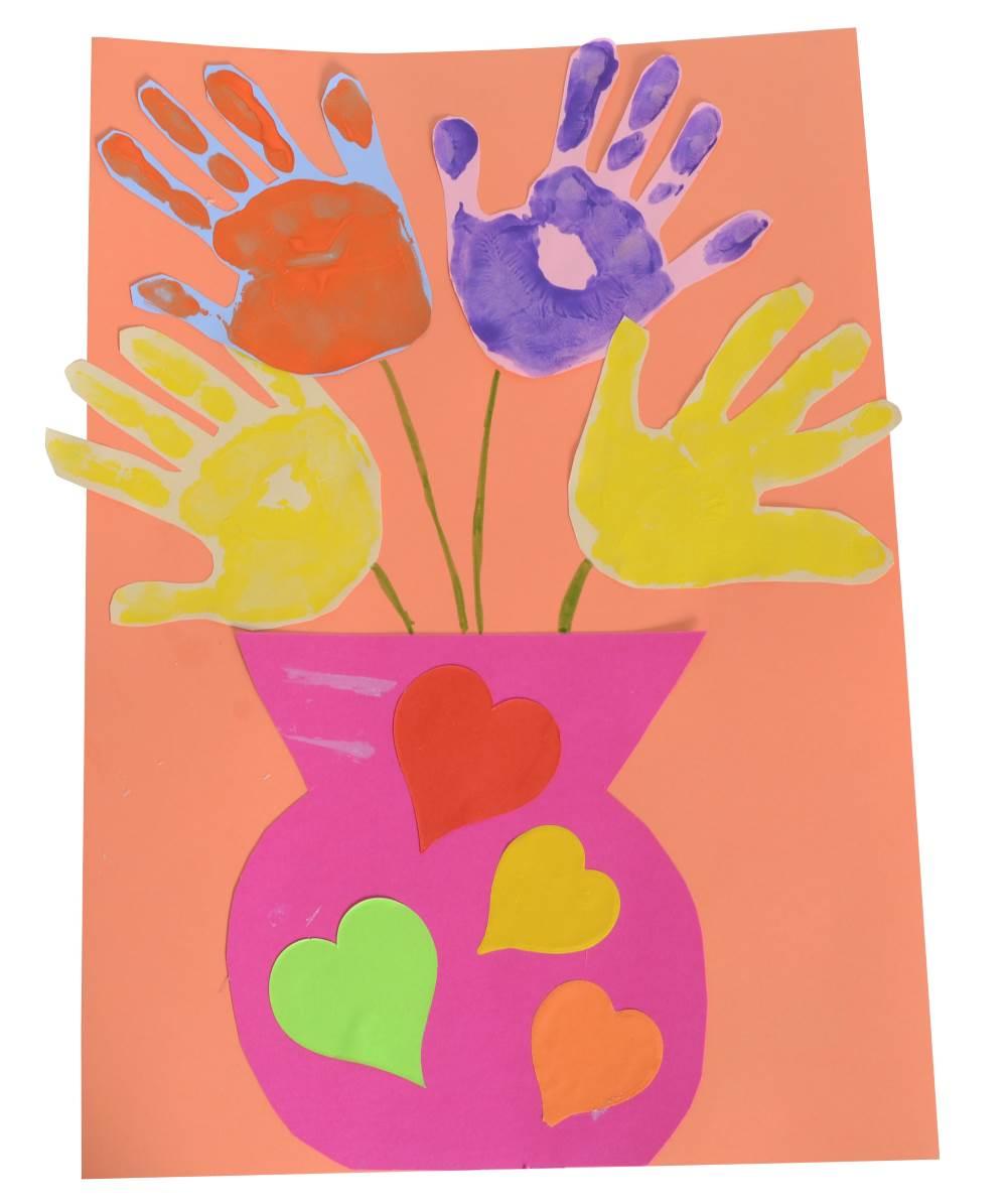 hand print bouquet