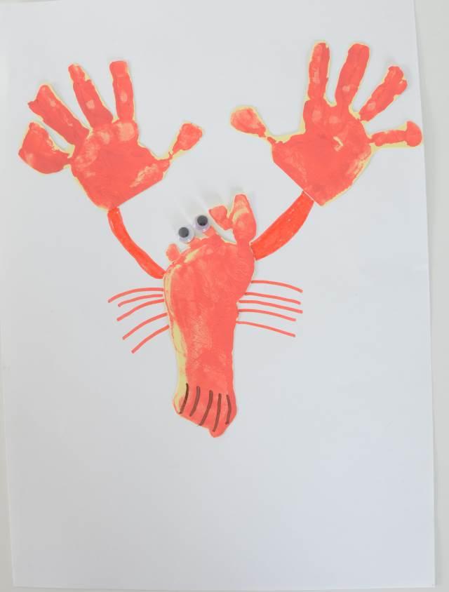 lobster handprint