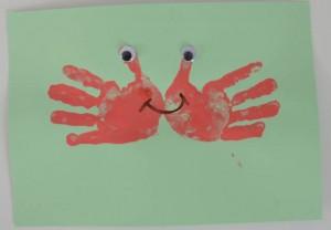 crab hand print