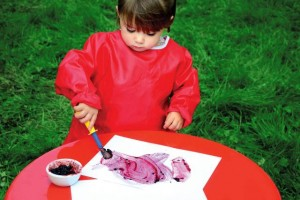 EYFS natural painting