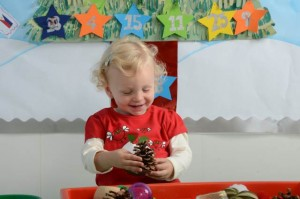 festive sensory tray