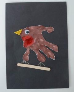 hand print robin