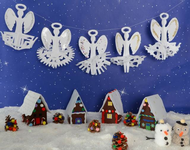 Paper Snowflake Angels Early Years Inspiration