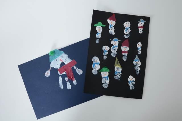 fingerprint snowmen