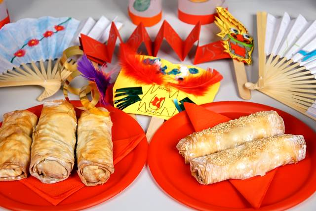 Spring rolls for children