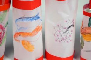 watercolour chinese lantern