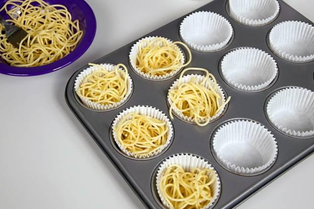 Easter nest frittatas spaghetti
