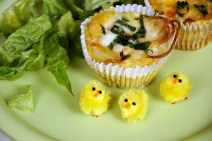 Finished Easter frittatas