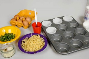 muffin cases prepared
