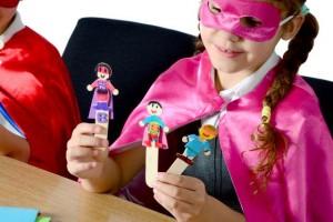 Bookmark superhero themed
