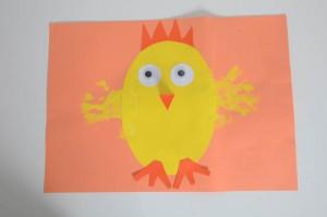 Hand Print Chick craft