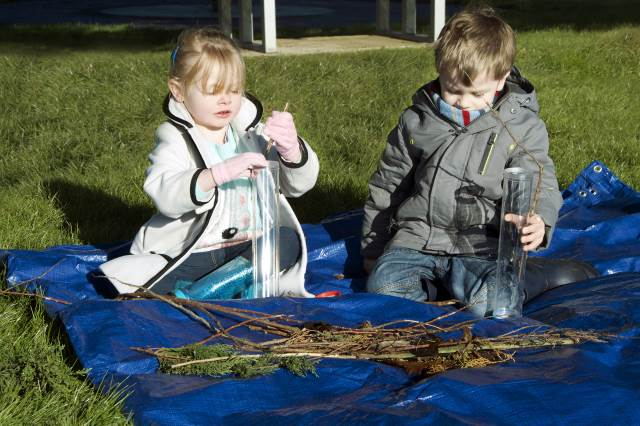 outdoor sensory tube activity