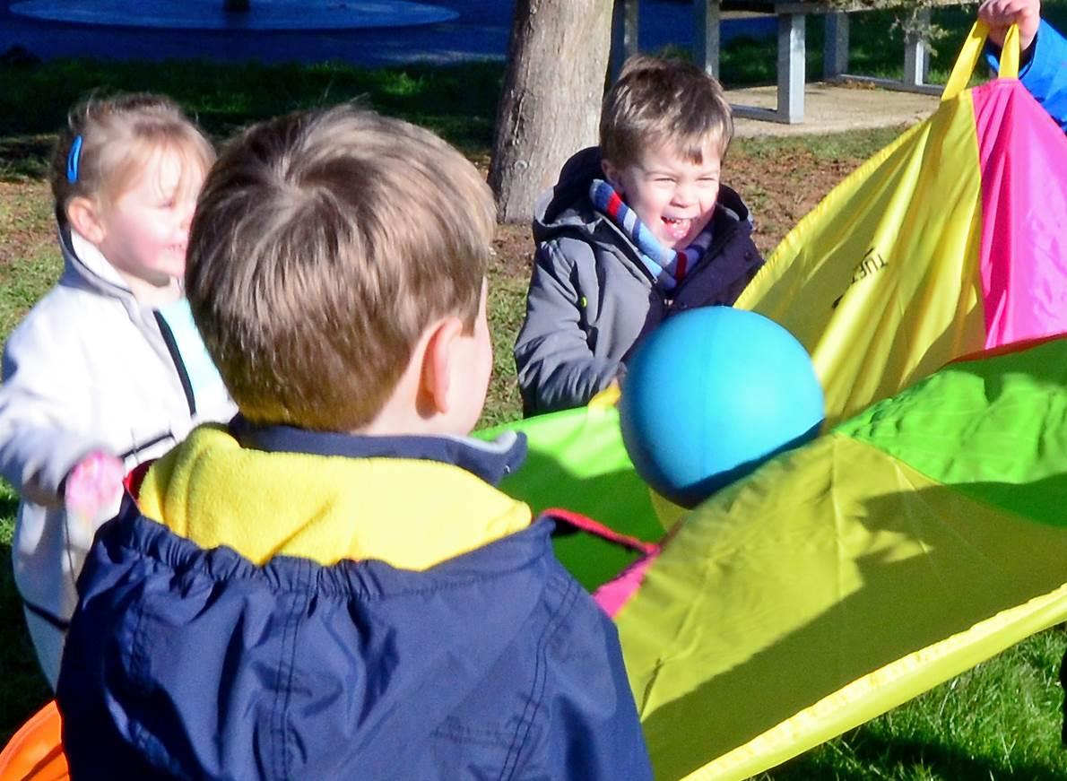 parachute games for preschool children