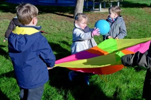 parachute games for preschool
