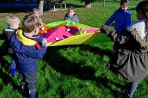 preschool parachute games