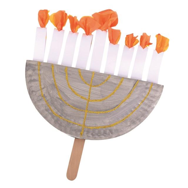 How to Make a Paper Cut Hanukkah Lamp