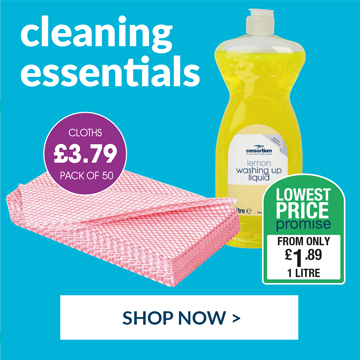 Shop our wide range of cleaning essentials.