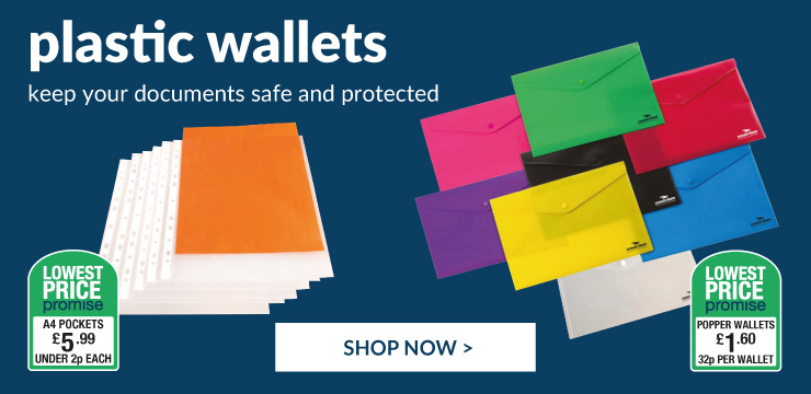 plastic wallets and laminating pouches