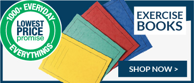 exercise books lowest price promise