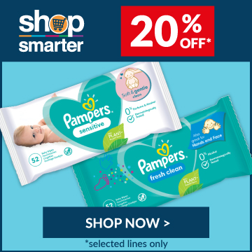 Pampers 20% discount at Consortium