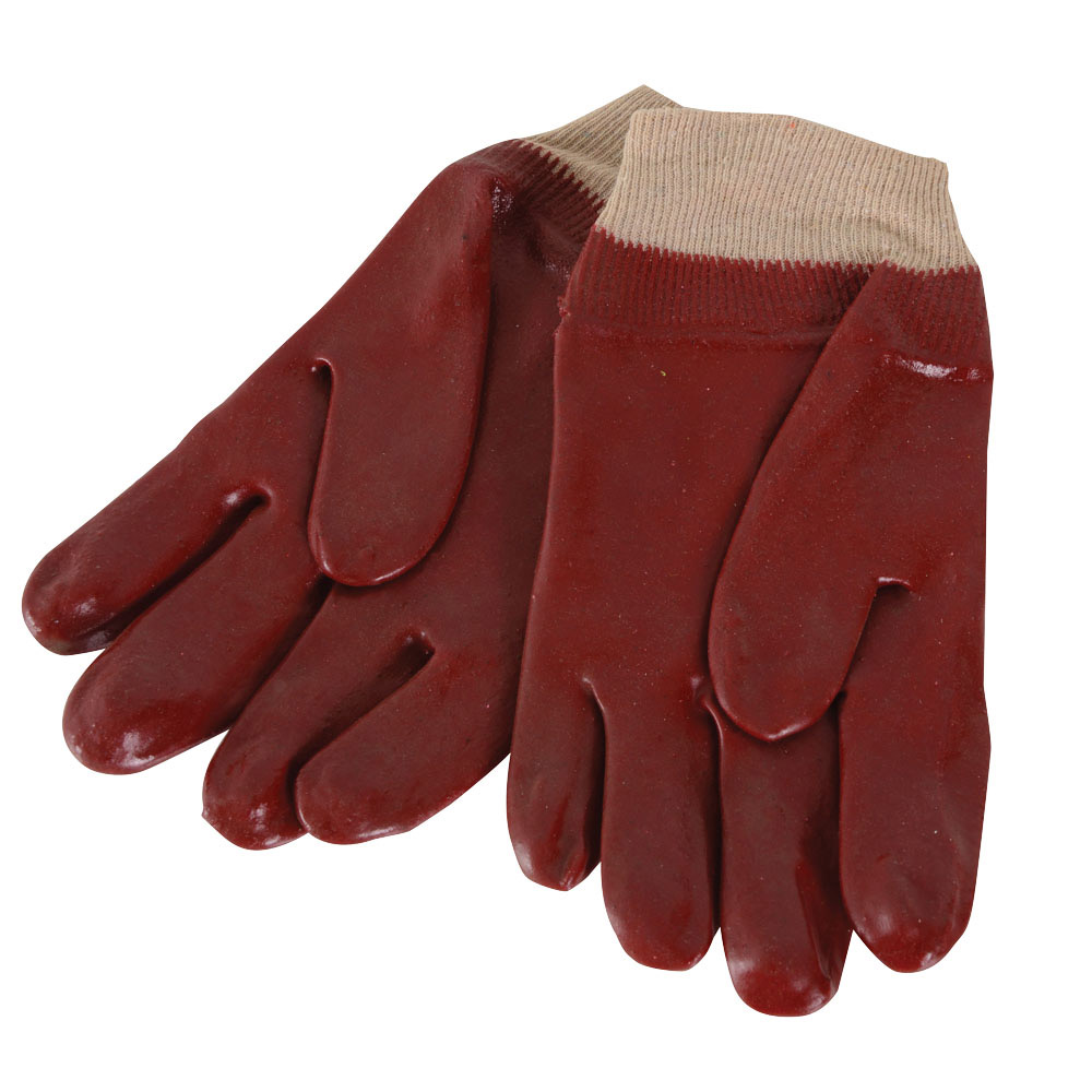 Red PVC Knit Wrist...