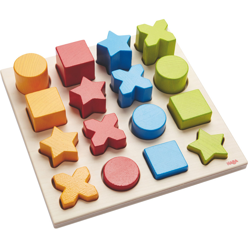 Wooden Sorting Game Shape Mix Maths Toddler 2 3 Years