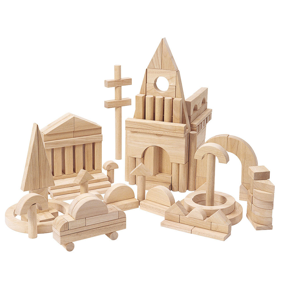 Rubberwood Building Blocks