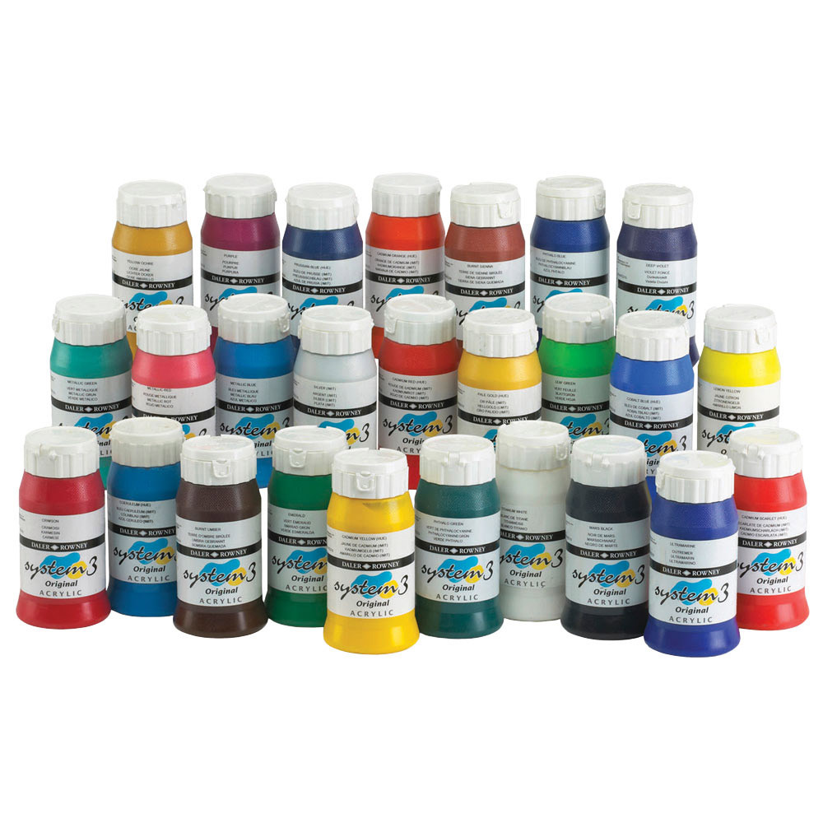 System 3 Daler Rowney Acrylic Paint - 500ml