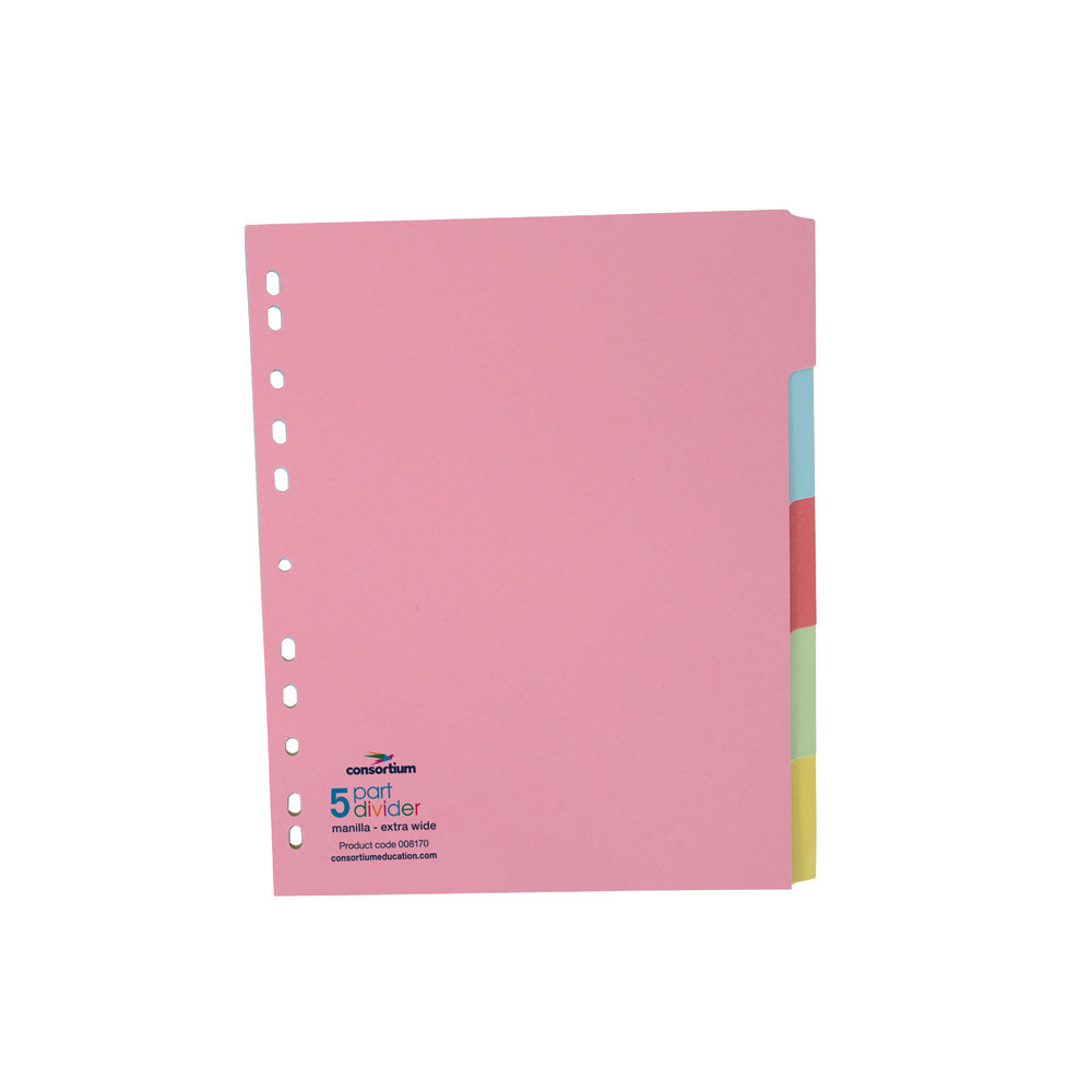 Extra Wide A4+ Manilla Dividers