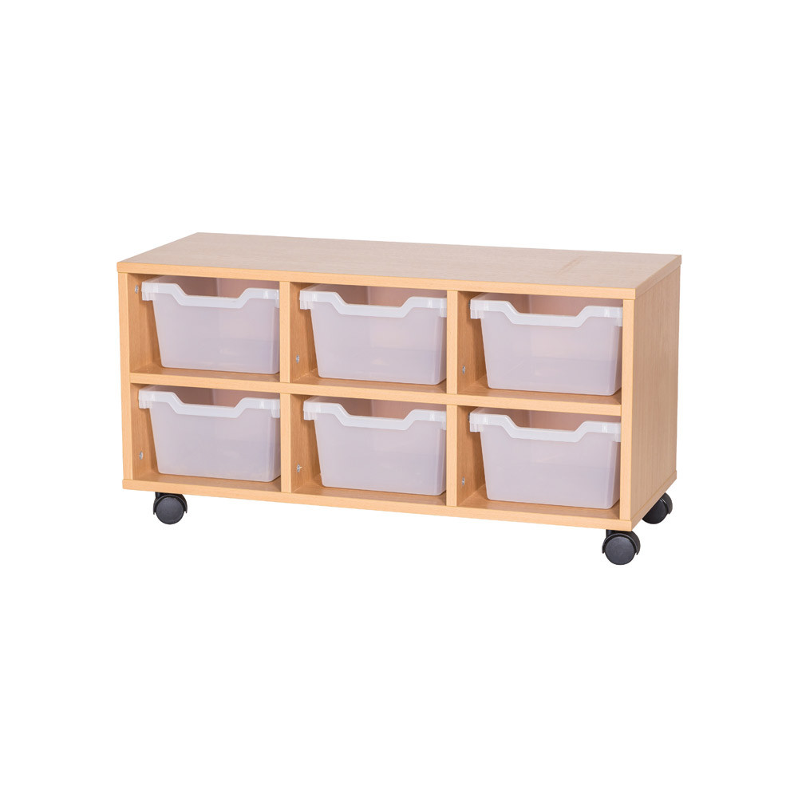 Cubby Tray Storage: 2 Tier with 6 Trays
