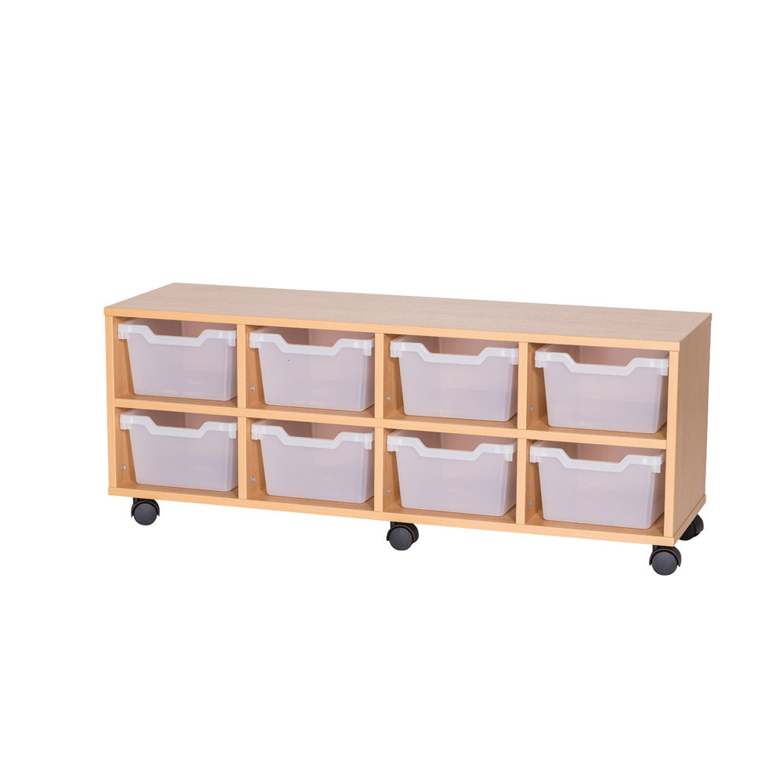 Cubby Tray Storage: 2 Tier with 8 Trays