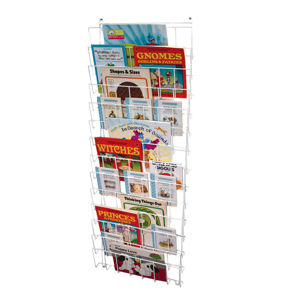 Vertical Wall Mounted Book Rack Book Trolleys And
