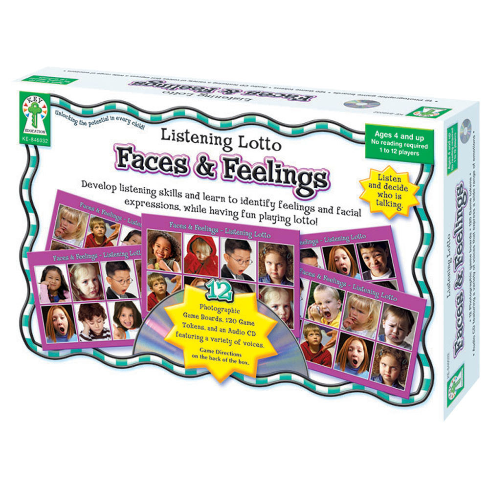 Faces and Feelings Listening Lotto Game