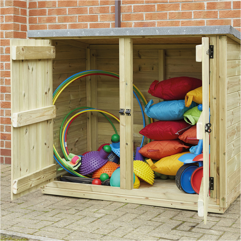 Outdoor Wooden Storage Cubby