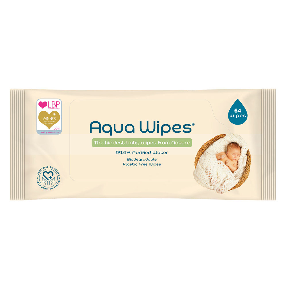 Aqua Wipes 100% Biodegradable Baby Wipes