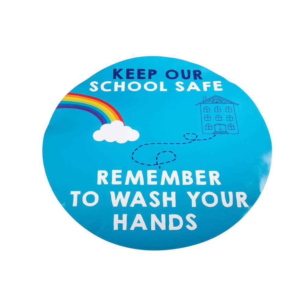 Hand Hygiene Wall Stickers 420mm 5pk
