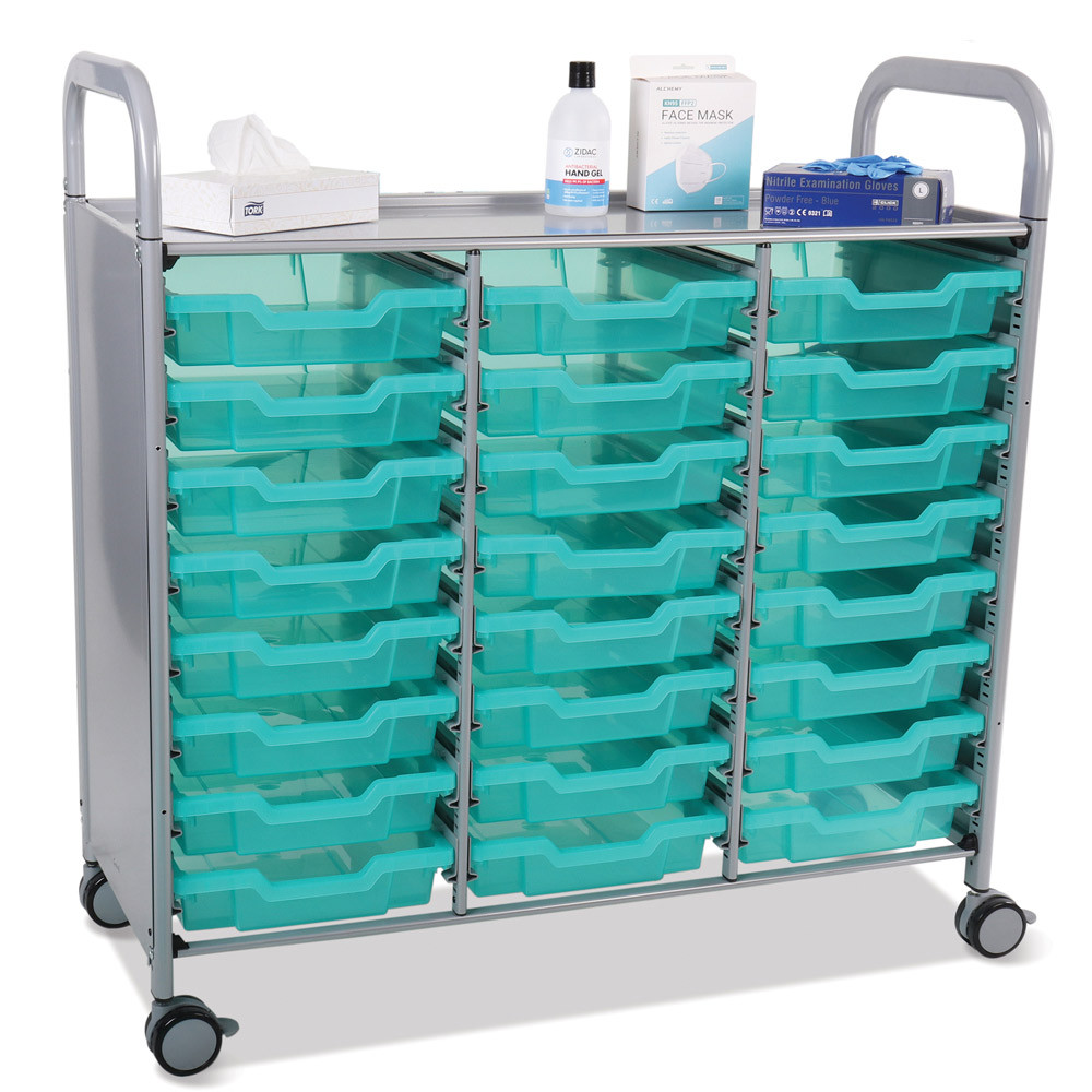 Gratnells Antimicrobial Callero Shield Tray Tolleys