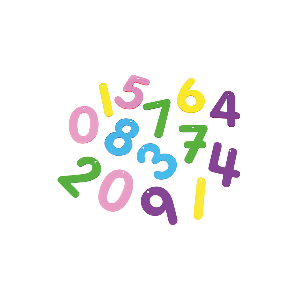 Rainbow Numbers and Letters
