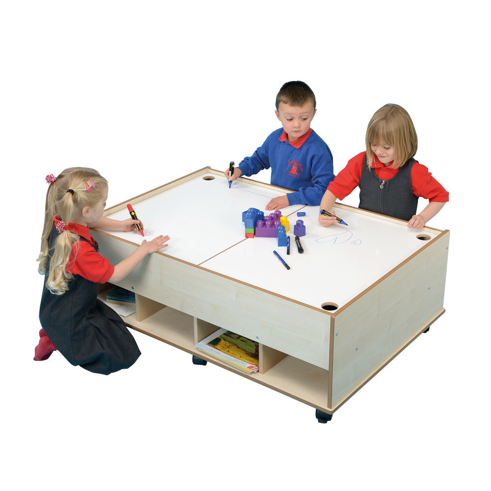 Double Sided Storage Play Table